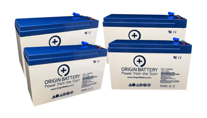 APC RBC24 Battery Replacement Kit - 4 Pack 12V 9AH High-Rate Discharge