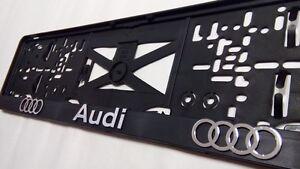 3D Efekt Audi Tuning Kennzeichenhalter Nummernschildhalter 1Paar/2Stücken A-4534