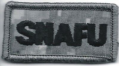ACU Military SNAFU Situation Normal All F@&ked Up Morale Patch