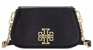 Tory Burch Britten Leather Mini Crossbody Bag Black 39058