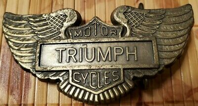 TRIUMPH Motorcycles Advertising - Brass Belt Buckle