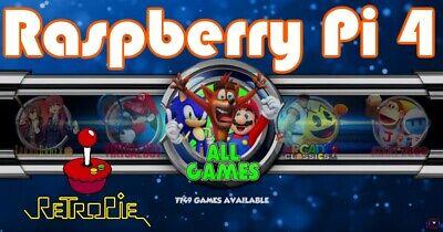 128GB micro SD card for Raspberry Pi 4- 7,700+ games ROMS RetroPie retro gaming