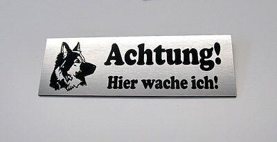 Hundeschild,Vorsicht Wachhund,12 x 4 cm,Gravur,Schild,Schäferhund,Warnschild,Tür