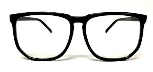 Square Oversized BLACK/TORTOISE Frame CLEAR Lens glasses Nerd Geek Vintage Retro
