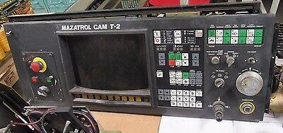 Mazatrol Cam T-2 Operator Control Panel Keyboard W Board Fx709c Fr Mazak Lathe