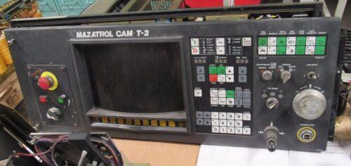 MAZATROL CAM T-2 OPERATOR CONTROL PANEL KEYBOARD, W/ BOARD FX709C FR MAZAK LATHE