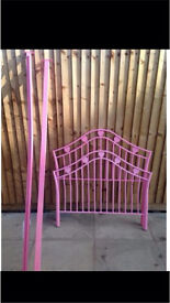 Pink heart single bed frame WITHOUT SLATS !!