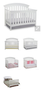 4-in-1 crib and matching change table