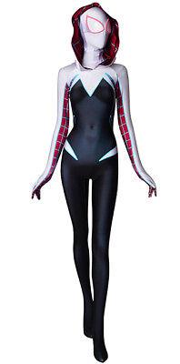 Newest Gwen Stacy Spiderman Costume Ghost Spider Girl Superhero Zentai Bodysuit - Spider Girl Bodysuit