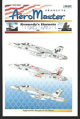 Aeromaster Kennedy''s F-18C Hornets Part 1 Decals Hasegawa 1/48 Scale AN48607