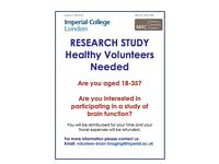 volunteers needed for research study