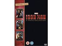 Iron man 1-3 dvd boxset (plus other superhero dvds)