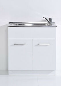 Laundry Tub Cabinet 45 Litres MDF Gloss White laundry Trough Sink