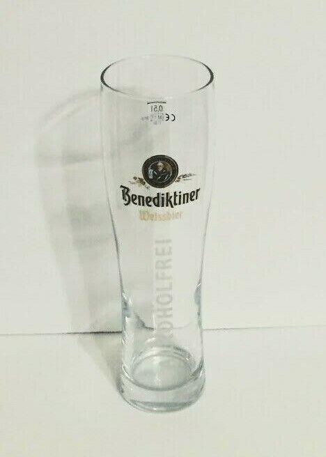 Benediktiner Weissbier Alkoholfrei 0,5l Glas Bierglas Bier