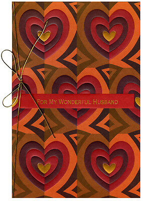 Earthtone Hearts: Husband Valentine's Day Card by Freedom Greetings 2 Hearts Greeting Card