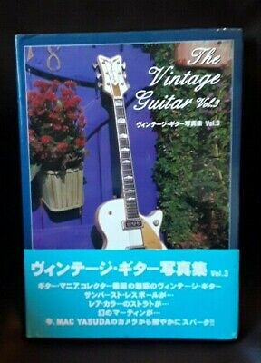 Japanese Edition photo book of The VINTAGE GUITAR Mac Yasuda vol.3 2001 Signed