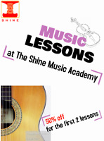 Music lessons at The Shine Music Academy