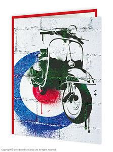 Brainbox Candy Vespa Mod scooter greetings birthday card graffiti retro vintage