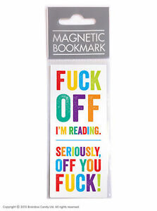 Brainbox Candy Magnetic Bookmark funny rude joke gift present reading humour