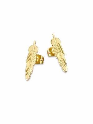 Brand New Bing Bang Kachina Bird Feather Earrings Gold Saks Fifth 5th Avenue - Bing Bang