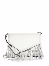 Weekend Price!!! Kendall+Kylie Ginza Fringe Leather Clutch Bag - RRP £216