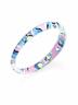 NWT Alexis Bittar Lucite Poppy-Print Bangle Bracelet Multicolor