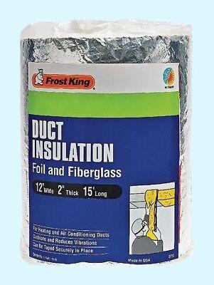 Duct Insulation Foil Fiberglass 15 L X 12 W X 2 T Heating Ac Wrap