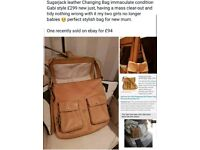Sugarjack Leather Changing Bag