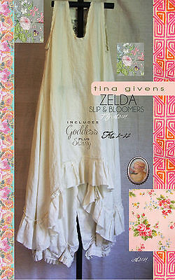 Zelda Slip & Bloomers TG-A3124 Sewing Pattern by Tina Givens- Lagenlook Style!