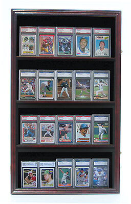 (Display Case Shadow Box for Sport Trading Cards, PSA, BVG, SGC cards CC03)