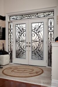 WROUGHT IRON & STAIN GLASS DOOR INSERTS Blowout SALE!!!