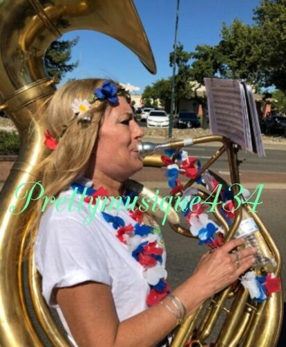 "SOUSAPHONE BIG 25"" BELL BRASS GOLDEN JUMBO  + MOUTHPC + CASE BOX + FREE SHIPPING"