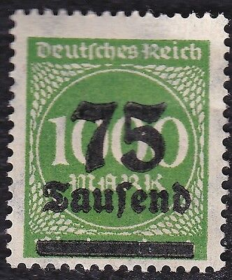 N0 929A -German Empire-1923-Overprinted Hyperinflation 75 on 1000mark - mint/hr