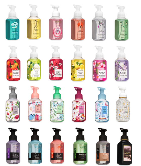 Bath and Body Works Soap Foaming Hand Soaps Authentic Gentle Full Size Bottles