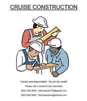 Cruise Construction - Booking for September