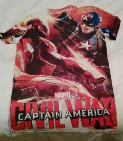MARVEL CAPTAIN AMERICA small mens T-shirt