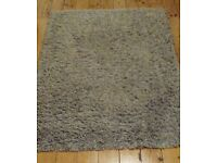 Grey rug from Next 100% wool.