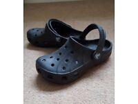 Kids Crocks - genuine black - kids size 10
