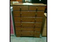 A brand new 5x2 pine drawer chest .