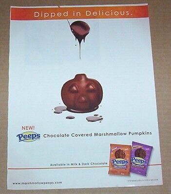 2010 print ad page - Peeps marshmallow Halloween pumpkins Just Born - Peeps Marshmallow Halloween