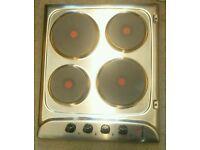 ***BARGAIN*** Indesit PIM604IX Solid Plate Stainless Steel Hob