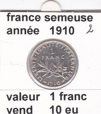 BF 3 )pieces de 1 franc  france  1910 ( 2 )