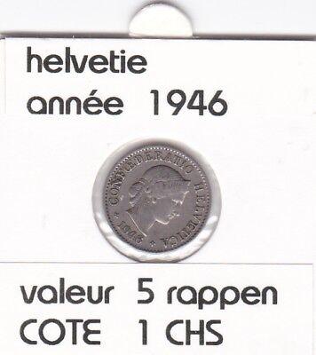 S 1) pieces suisse de 5  rappen de 1946   voir description