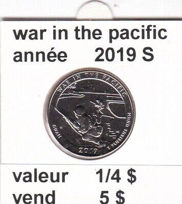 e1 )pieces de 25 cent  2019 S   war in the pacific   voir description