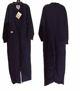 Geliget Flame Resistant FR Navy Coveralls (TALL) (Brand New)