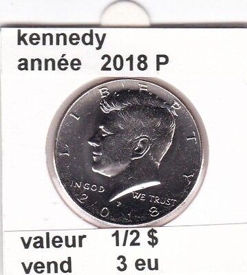 e3 )pieces de 1/2 dollar kennedy 2018 P