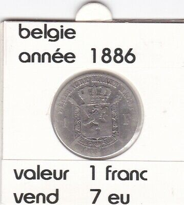 FB 3 )pieces de leopold 2   1 franc  1886  belgie