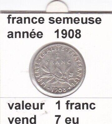 BF 3 )pieces de 1 franc  france  1908