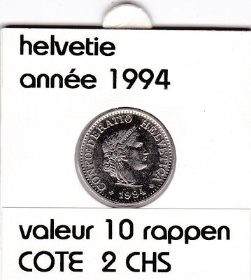 S 1) pieces suisse de 10  rappen de 1994  voir description