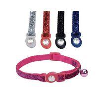 "Safe Cat Fashion breakaway Glitter Cat Collar - 3/8"" x 8 - 12 Inch - 5 colors"